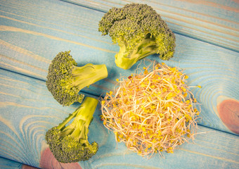 Broccoli sprouts as an ingredient of a healthy diet.