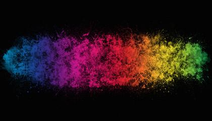 rainbow paint background element