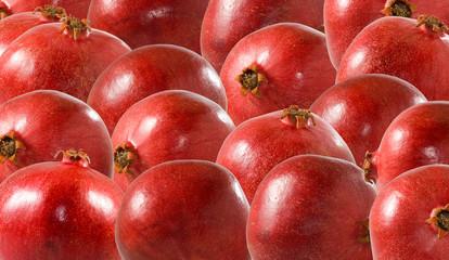 Fototapete - image of pomegranate close up