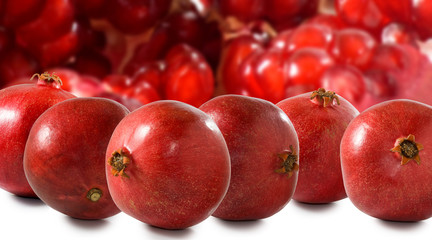 Fototapete - isolated image of pomegranate close up