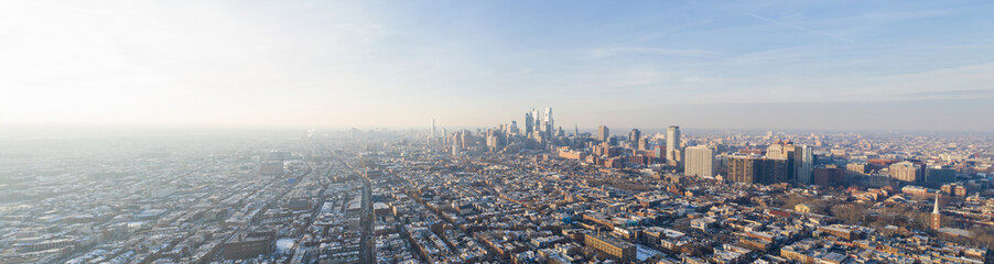 Aerial panoramic photo Downtown Philadelphia PA Fototapete