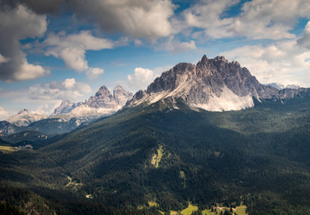 The beauty of nature - wonderful daylight view of the Dolomites mountains, Italy
