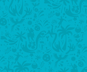 Seamless sports blue pattern, abstract football vector background. Seamless Pattern included in swatch