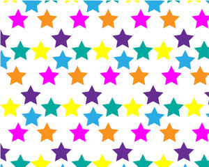 Colorful background with confetti of stars, for greeting cards and celebrations, Pattern can be used for background your design.
