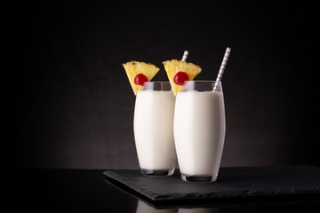 Icy Pina Colada cocktails