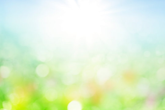 abstract spring background with bokeh