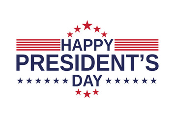 Happy Presidents Day card, background on white background. Vector illustration.