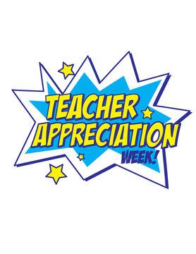 Teacher appreciation week comic starburst