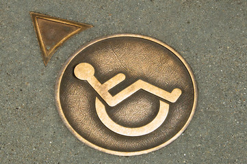 Wheelchair Crossing Street Medalian