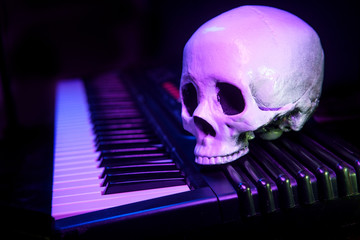 Performance Skull Piano Keyboard