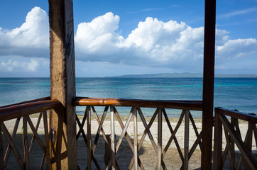 Boracay Beach Hut View of Tropical Sea - Philippines