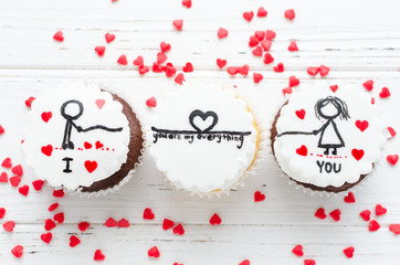 Delicious cupcakes for Valentine Day