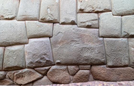 January 20, 2019 Hatun Rumiyoc Street (Cusco City) Peru, twelve-angled stone