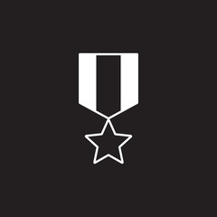 Medal Icon. Simple element illustration. award symbol design template. Can be used for web and mobile