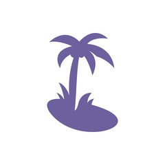 Tropical coconut icon