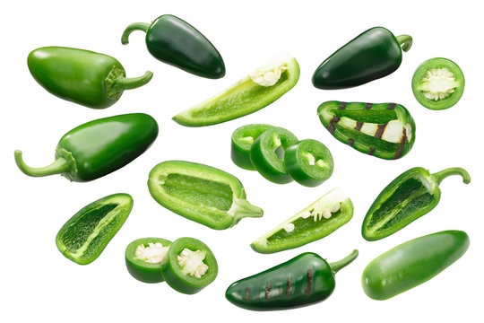 Jalapeno peppers, whole sliced, paths