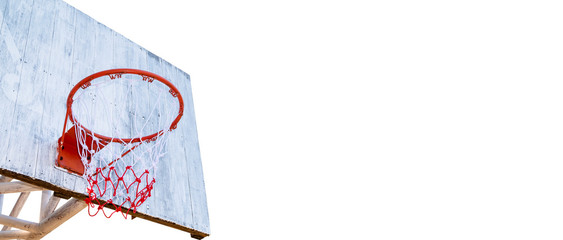Basketball hoop isolated on a white background. File contains with clipping path.