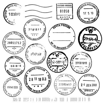 russian post stamps