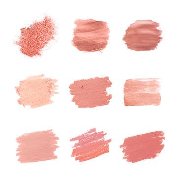 Pink brush strokes collection
