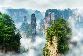 Zhangjiajie Wulingyuan Fotoväggar