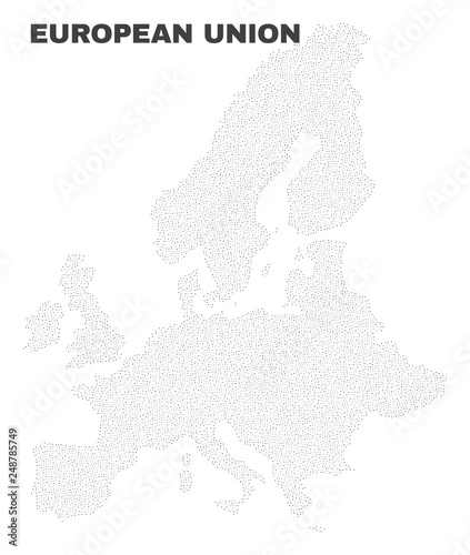 European Union map designed with tiny points  Vector