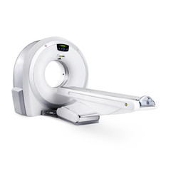 Magnetic Resonance Imaging (MRI) Machine Isolated on White Background. Medical and Science Equipment. Medical MRI Scanner