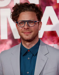 """Director Todd Strauss-Schulson poses at the premiere for the movie """"Isn't It Romantic"""" in Los Angeles"""