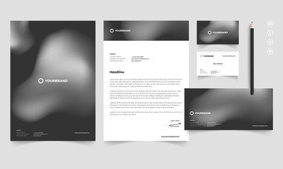 As Stationery Kit Design Template 01