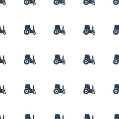 tractor icon pattern seamless white background