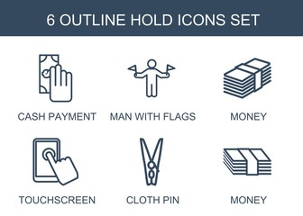 6 hold icons