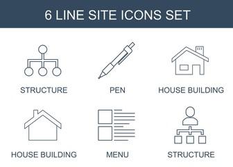 6 site icons
