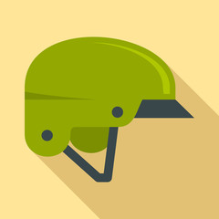 Mountain bike helmet icon. Flat illustration of mountain bike helmet vector icon for web design