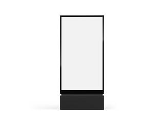 Totem light box mockup. Vector city format billboard, realistic totem lightbox vertical signage Fototapete