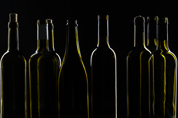 Wine bottle mockup. Front view.