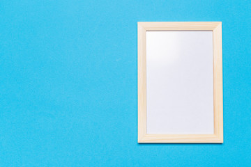 blank frame on a blue background