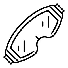 Ski glasses icon. Outline ski glasses vector icon for web design isolated on white background