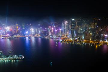 香港 シンフォニーオブライツ スカイ100(環球貿易広場)から