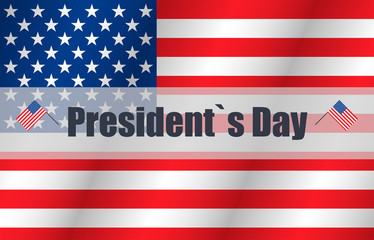 Happy Presidents day in flat design, vector