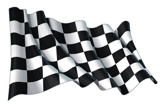 Motor Race Waving Flag
