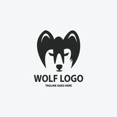 Wolf logo design template. Vector illustration
