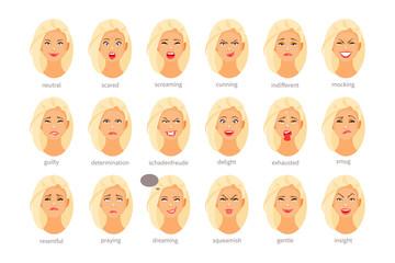 Emotions and feelings vector, part II