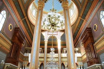 Yildiz Hamidiye Mosque built by Sultan Abdulhamid II, 1885 in Besiktas, Istanbul, Turkey Wall mural