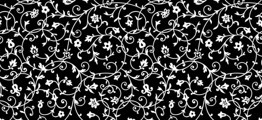 Vintage floral pattern. Rich ornament, old style pattern for wallpapers, textile, Scrapbooking etc.