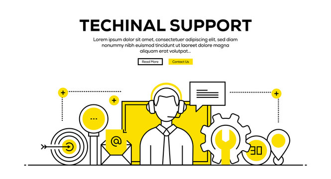 TECHINAL SUPPORT BANNER CONCEPT