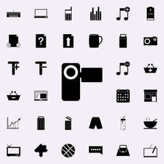 manual video camera icon. web icons universal set for web and mobile on white background