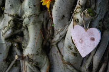 Dettaglio Matrimonio - Cuore - Amore - Legno - Shubby