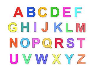 Children's multicolored alphabet , abc