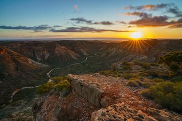 beautiful sunrise over charles knife canyon, western australia 7