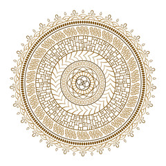 Vector ethnic colorful mandala motif