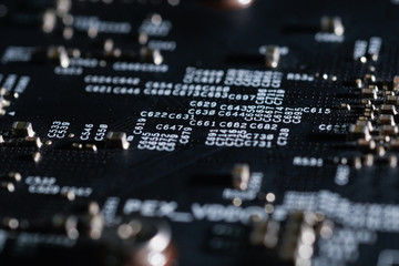Royalty high quality free stock photo of close up an electronic circuit board